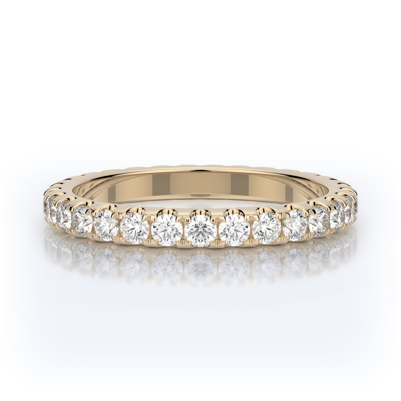 Henry Daussi 14 Karat Yellow Gold Diamond Eternity Band