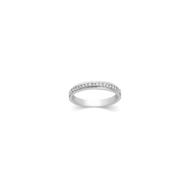 Paramount Gems 14 Karat White Gold Wedding Band with 21 Full Cut Diamonds