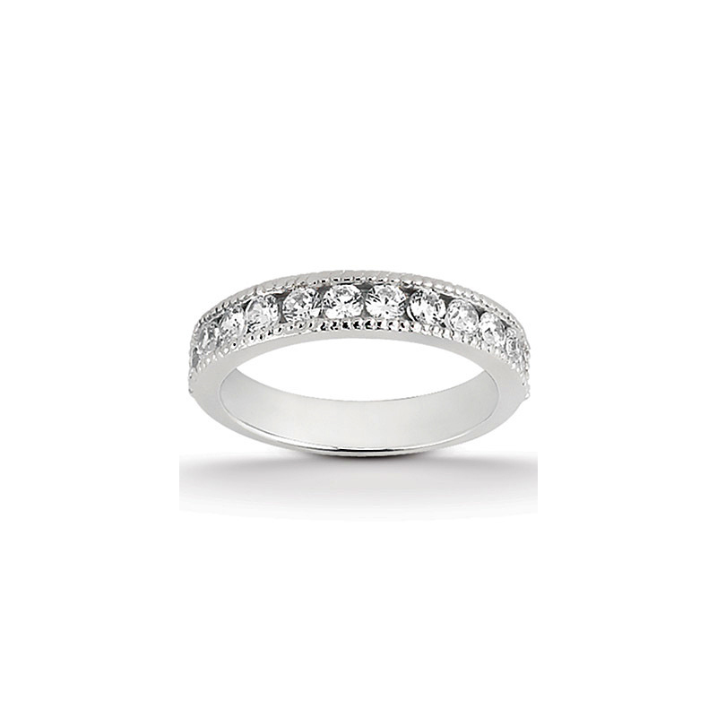 14 Karat white gold and diamond band 1/2 ct.