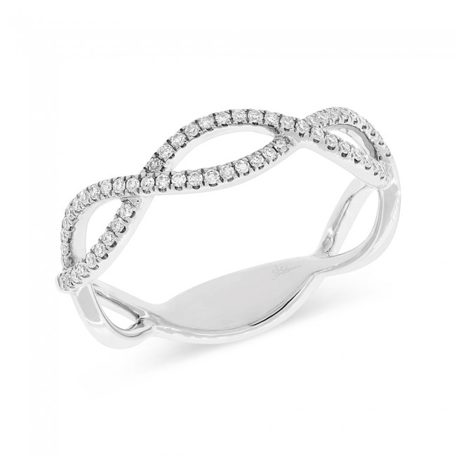 14 Karat Diamond Swirl Infinity Band