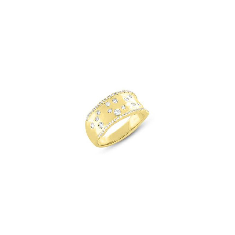 14 Karat white gold and diamond band.