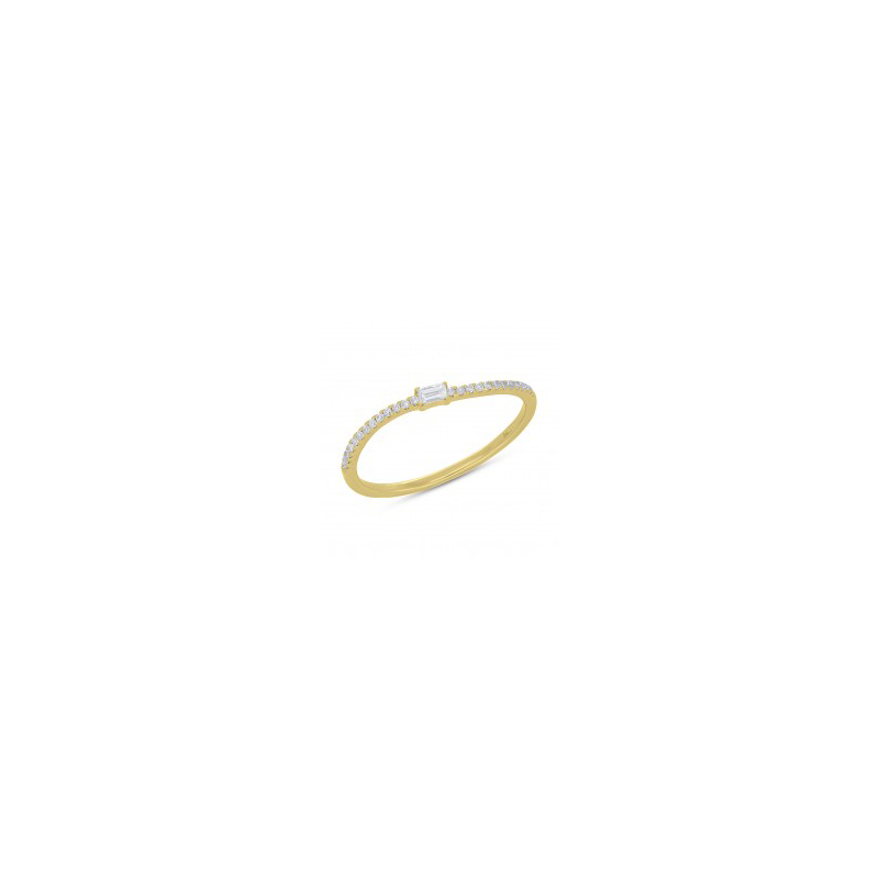 14 Karat yellow gold and diamond band.