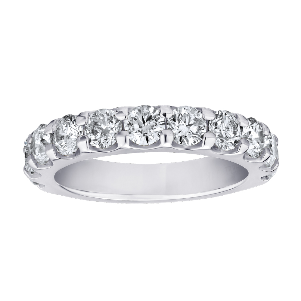 Shefi Diamonds 14 Karat White Gold Diamond Wedding Band (2 Carat)