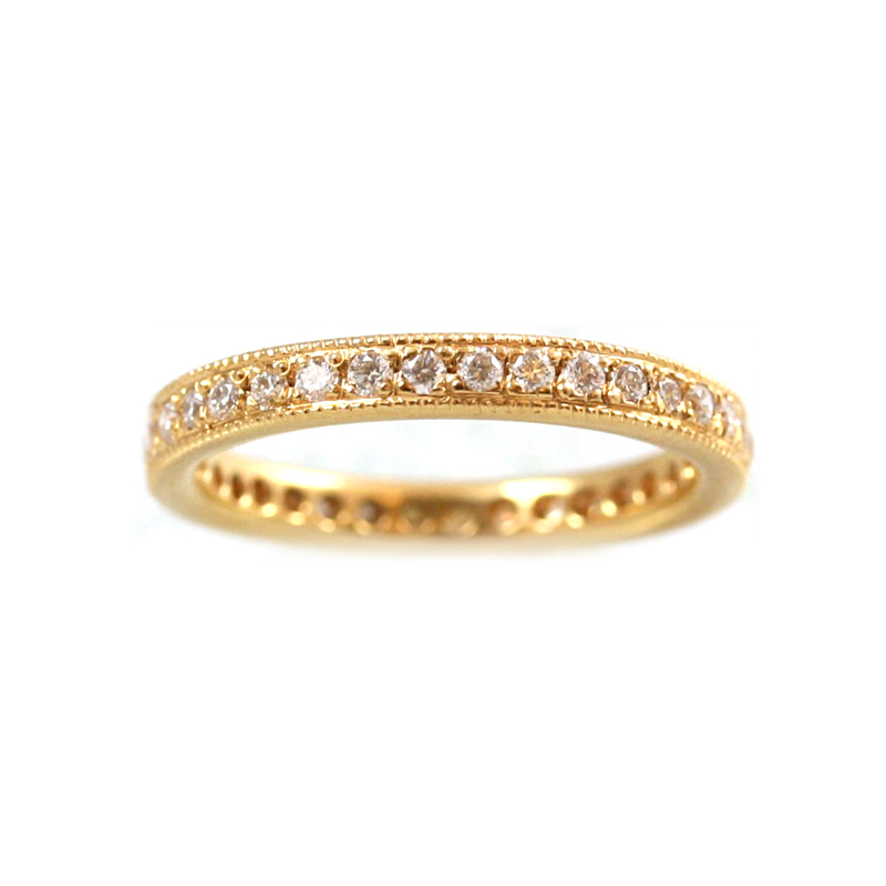18 Karat Rose Gold 36 Diamond Eternity Band