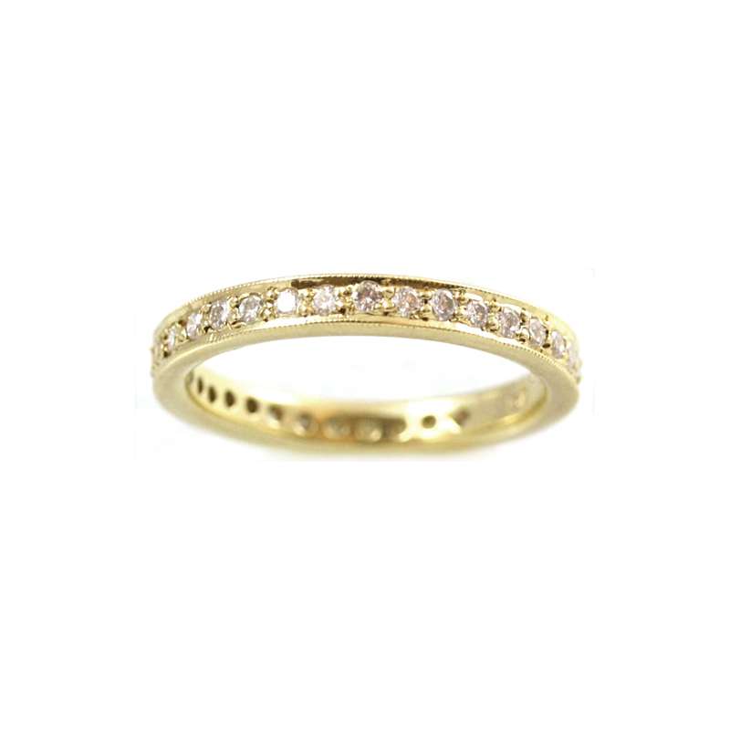 18 Karat Yellow Gold 36 Diamond Eternity Band