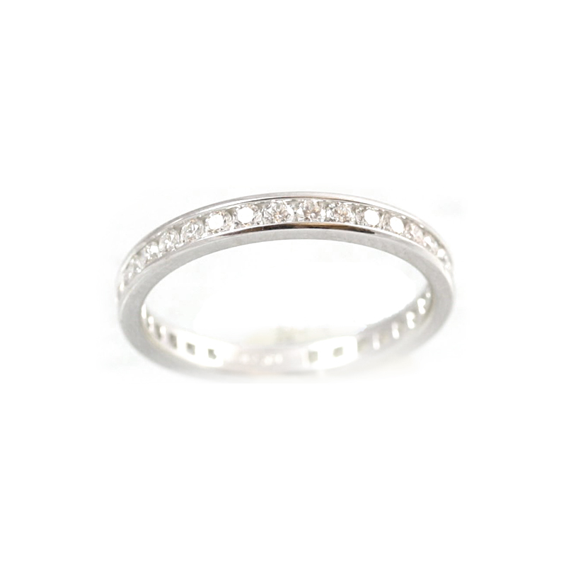 18 Karat White Gold 36 Diamond Eternity Band
