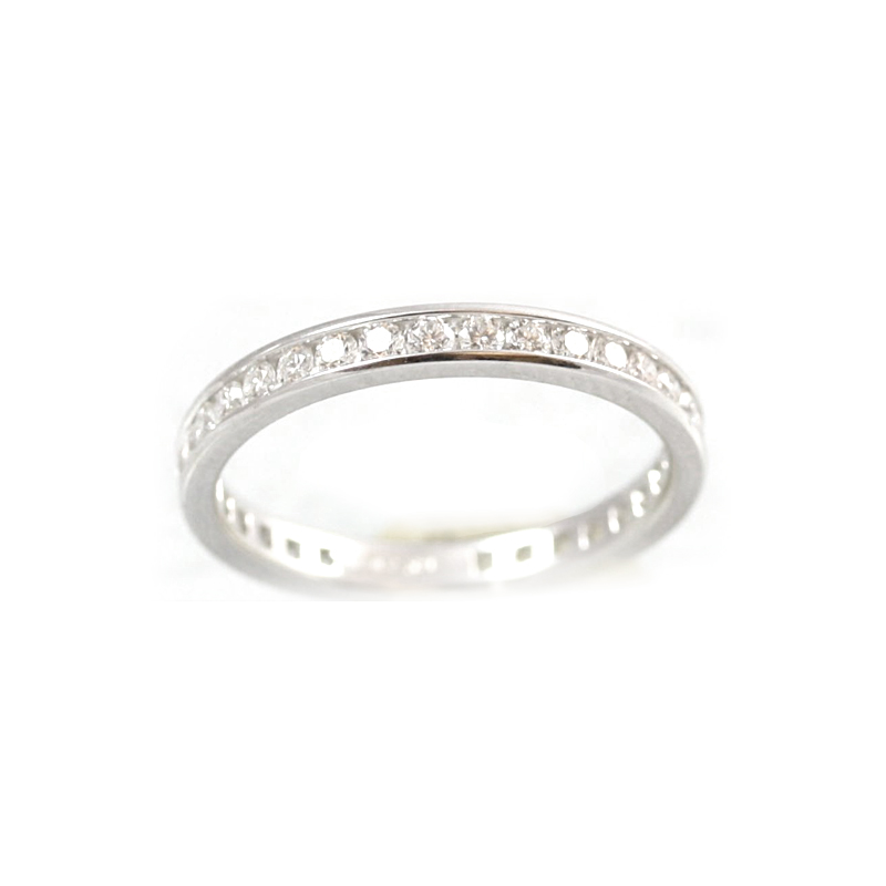 18 Karat White Gold 34 Diamond Eternity Band