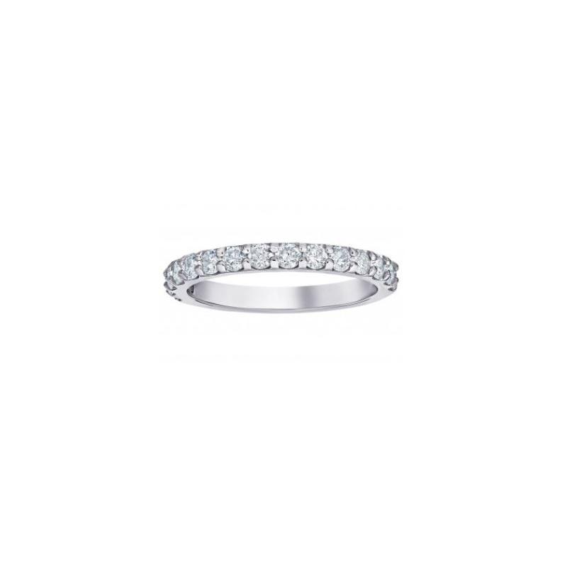 Shefi Diamonds 14 Karat White Gold Diamond Wedding Band (.75 Carat)