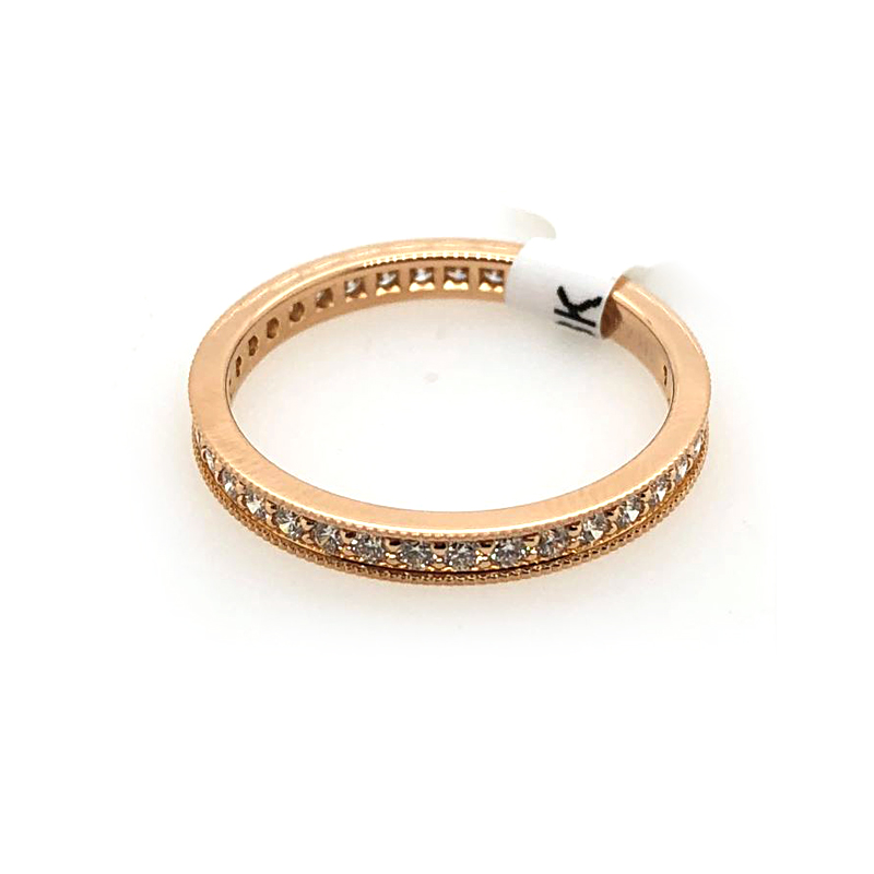 18 Karat Rose Gold 37 Diamond Eternity Band