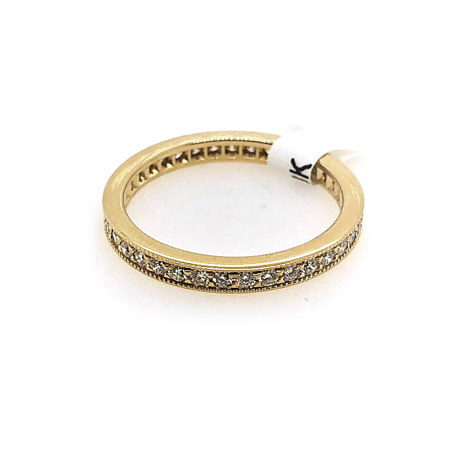18 Karat Yellow Gold 37 Diamond Eternity Band