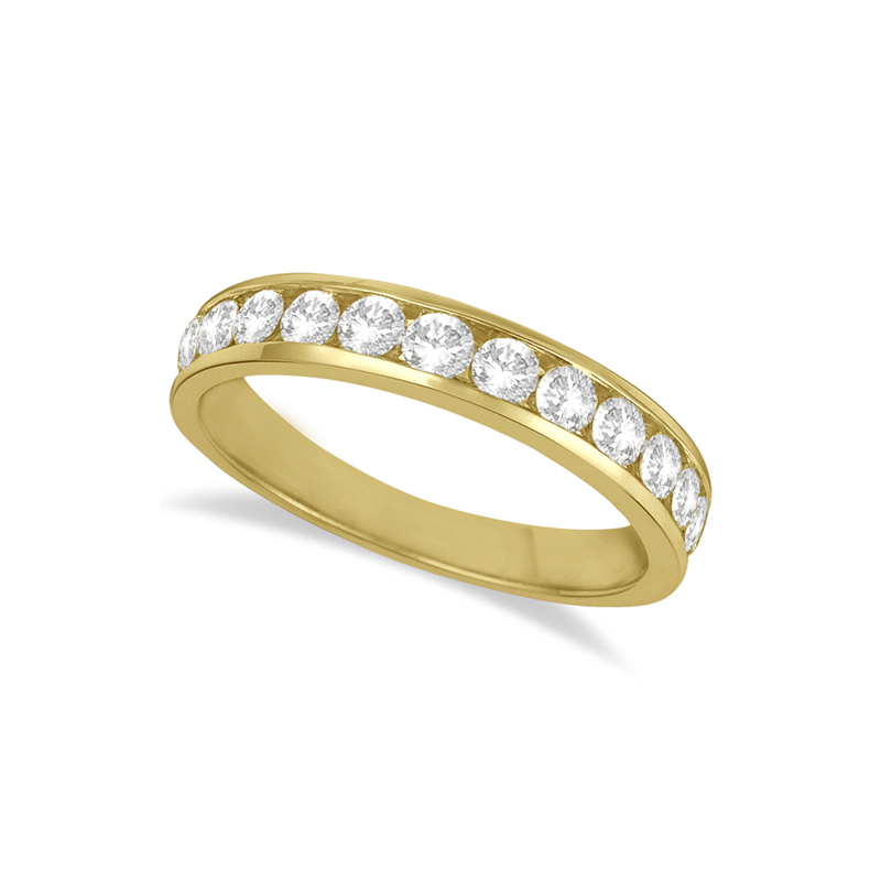 14 Karat yellow gold and diamond band 1/2 ct.