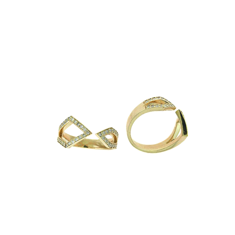 Ryan Gems 14 Karat Yellow Gold Diamond Band