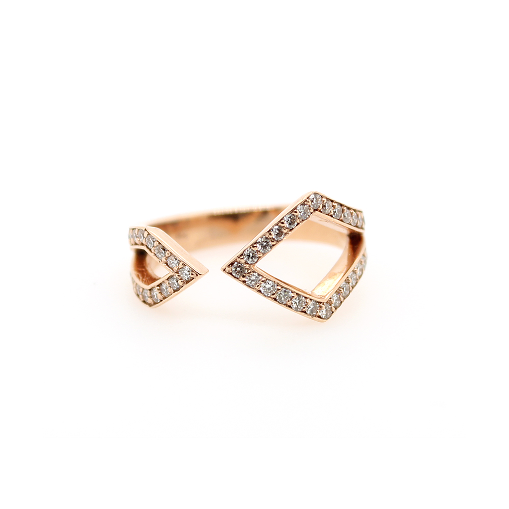 Ryan Gems 14 Karat Rose Gold Diamond Band