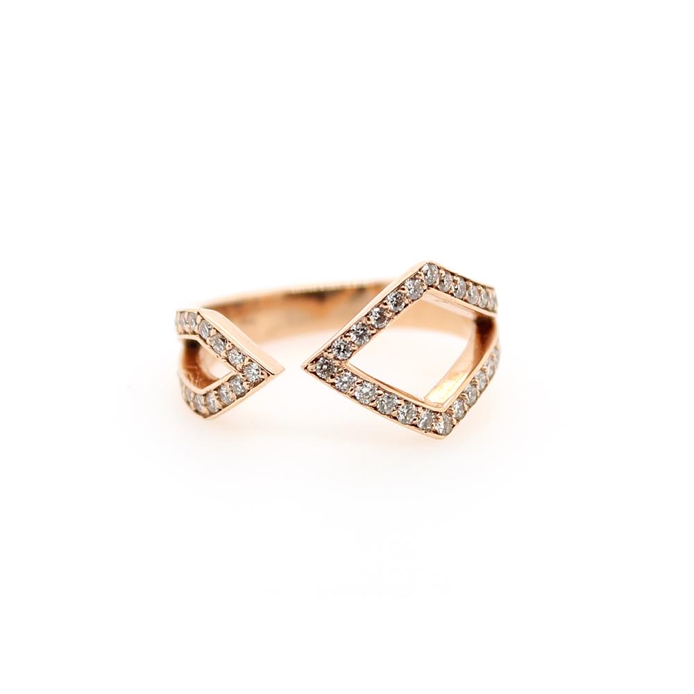 Ryan Gems 14 Karat Rose Gold Diamond Band