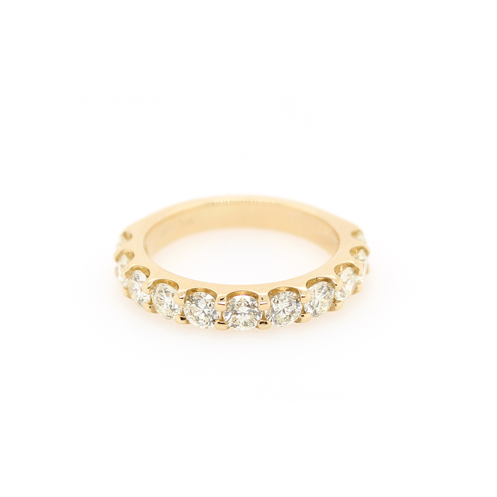 Shefi Diamonds 14 Karat Yellow Gold Diamond Wedding Band (1.5 Carat)