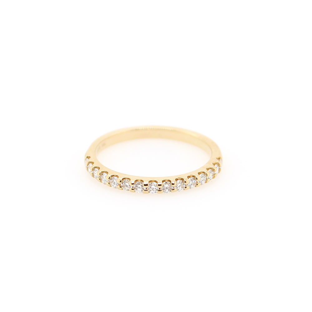 Shefi Diamonds 14 Karat Yellow Gold Diamond Wedding Band (.33 Carat)