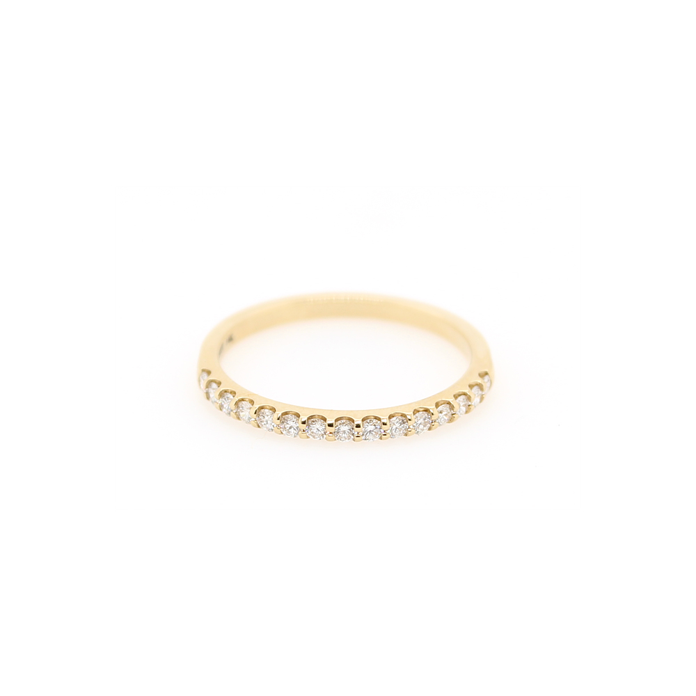 Shefi Diamonds 14 Karat Yellow Gold Diamond Band (.25 Carat)