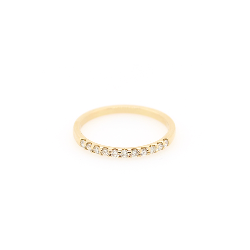 Shefi Diamonds 14 Karat Yellow Gold Diamond Band (.2 Carat)
