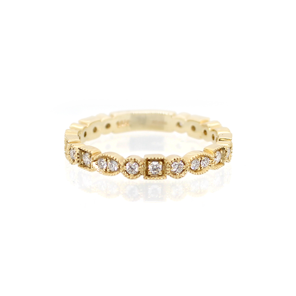 Beny Sofer 14 Karat Yellow Gold Diamond Band