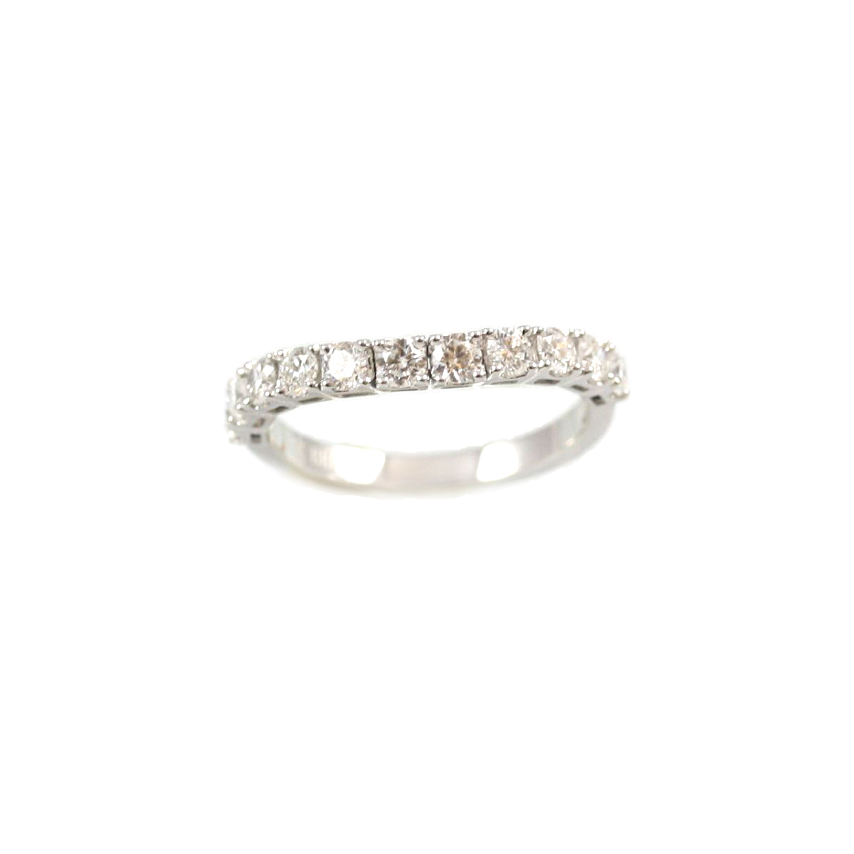 14 Karat White Gold Flex Diamond Band