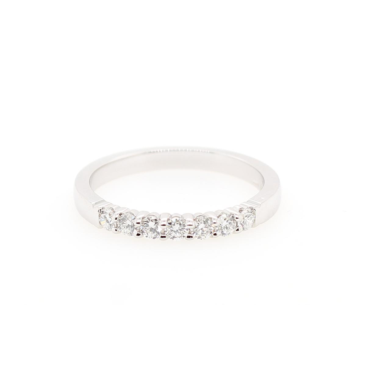 Shefi Diamonds 14 Karat White Gold Diamond Band