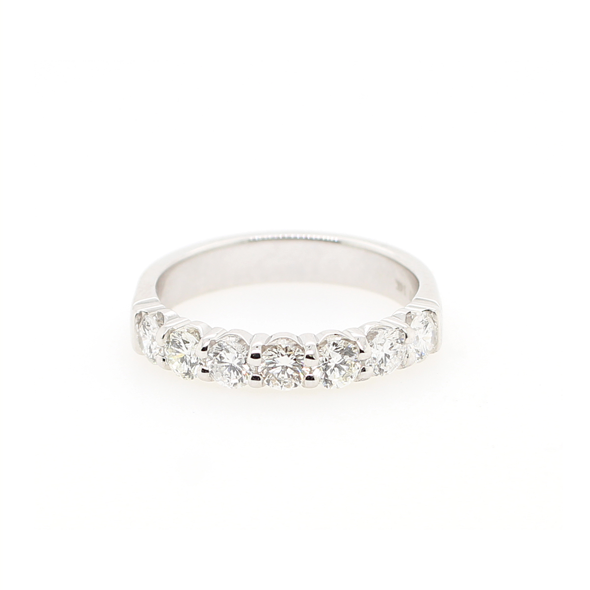Shefi Diamonds 14 Karat White Gold Diamond Band