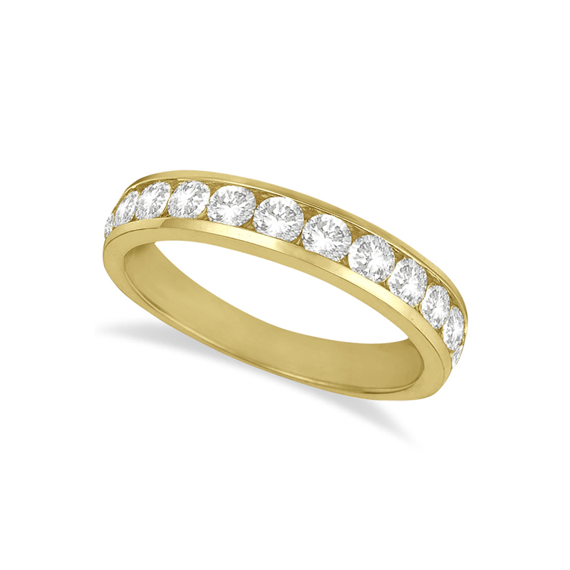 14 Karat yellow gold and diamond band 3/4 ct.