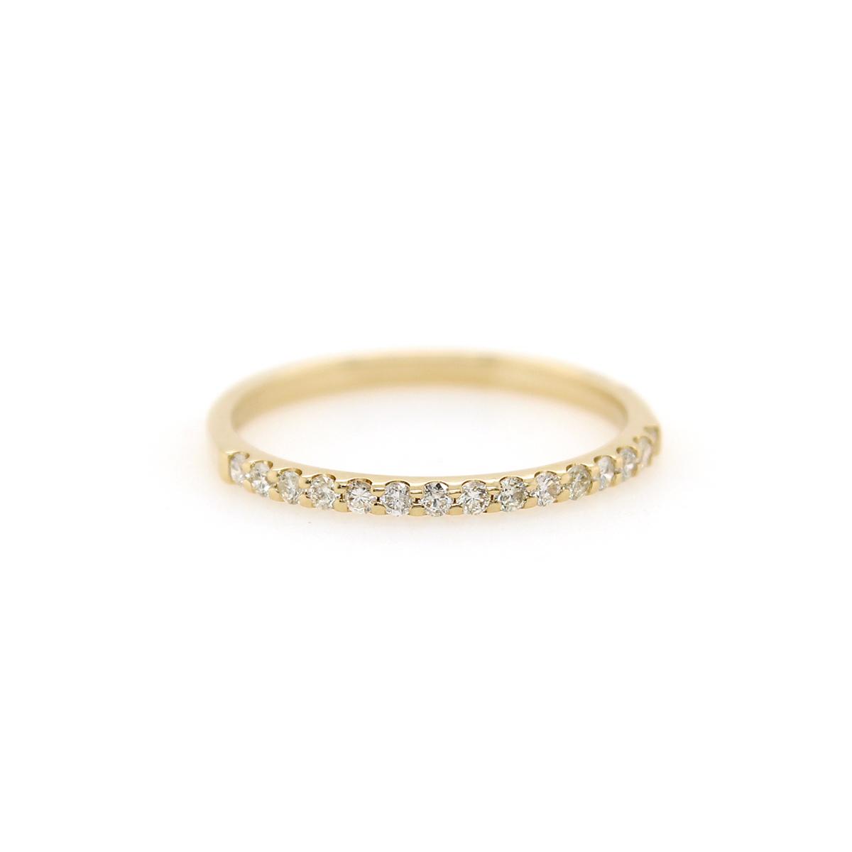 Shefi Diamonds 14 Karat Yellow Gold .2 Carat Wedding Band