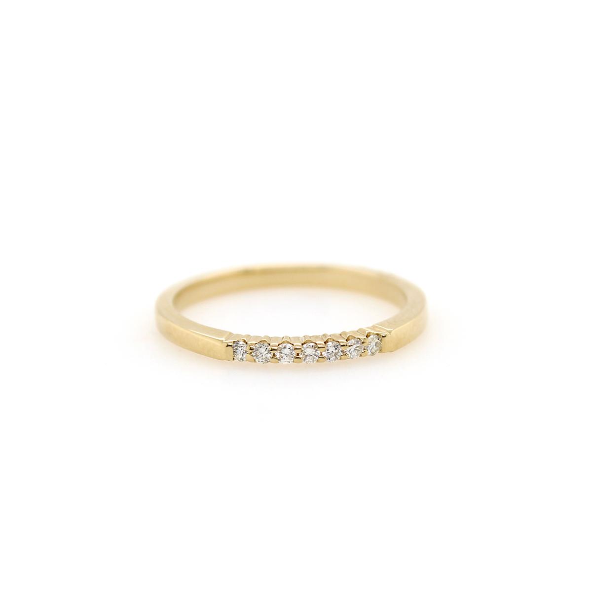 Shefi Diamonds 14 Karat Yellow Gold .1 Carat Wedding Band
