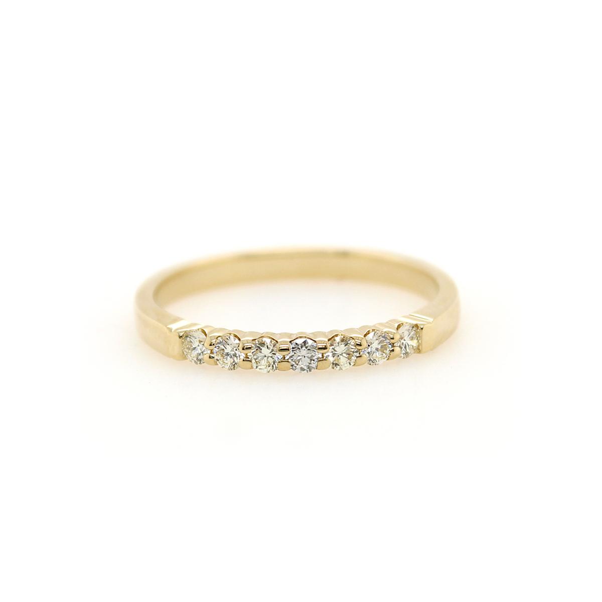 Shefi Diamonds 14 Karat Yellow Gold .25 Carat Wedding Band