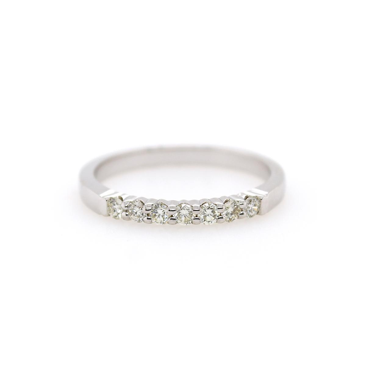 Shefi Diamonds 14 Karat White Gold .25 Carat Wedding Band