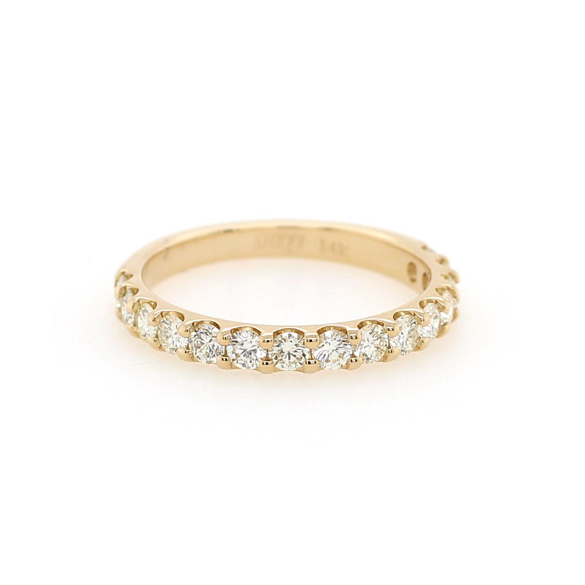 Shefi Diamonds 14 Karat Yellow Gold .75 Carat Wedding Band