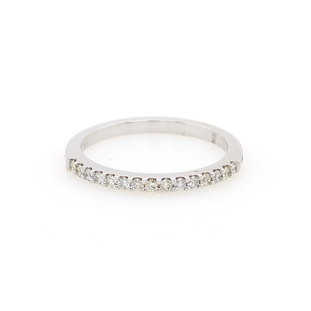 Shefi Diamonds 14 Karat White Gold .2 Carat Wedding Band
