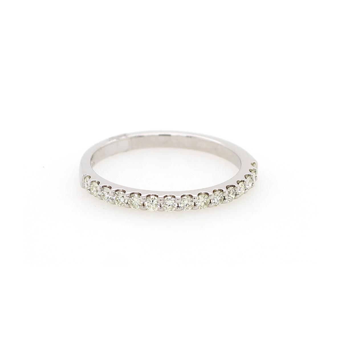 14 Karat White Gold .33 Carat Diamond Wedding Band