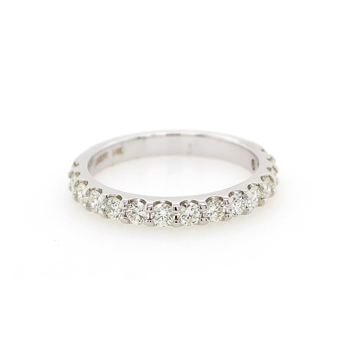 Shefi Diamonds 14 Karat White Gold .75 Carat Wedding Band