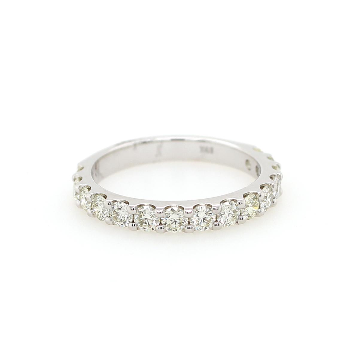 Shefi Diamonds 14 Karat White Gold 1 Carat Wedding Band