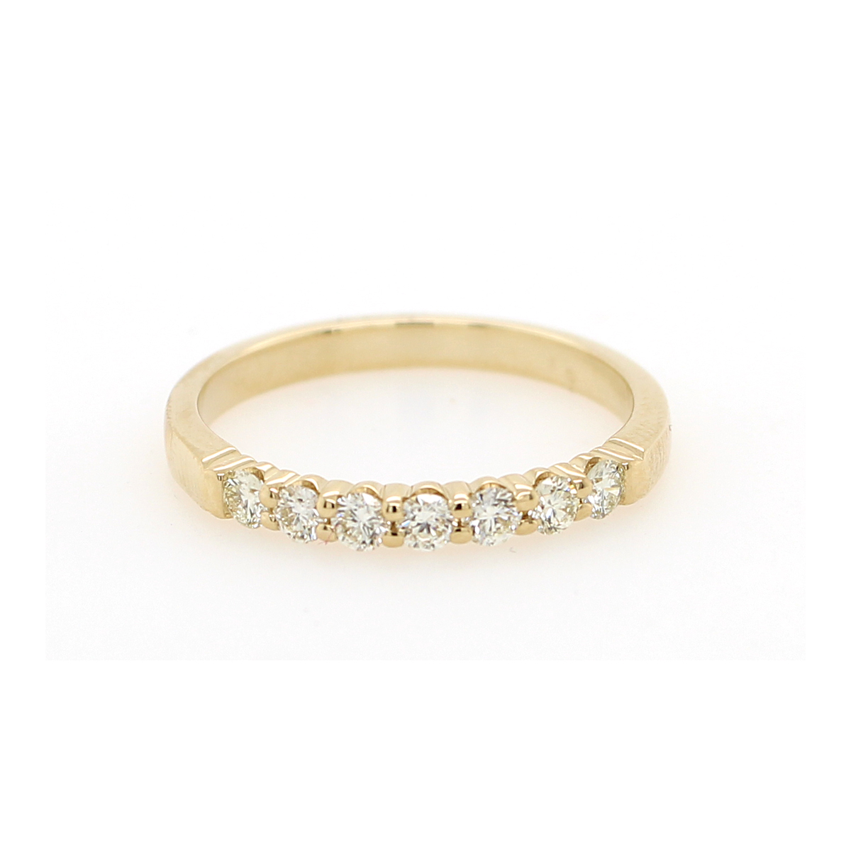 Shefi Diamonds 14 Karat Yellow Gold .33 Carat Wedding Band