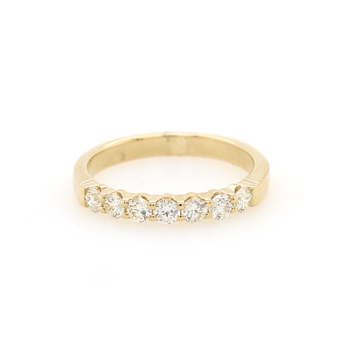 Shefi Diamonds 14 Karat Yellow Gold .5 Carat Wedding Band
