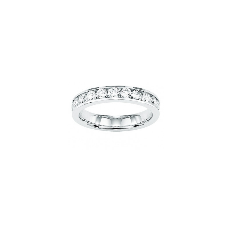 Shefi Diamonds 14 Karat White Gold 2 Carat Wedding Band
