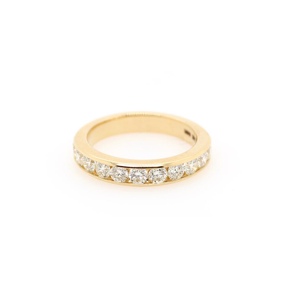 Shefi Diamonds 14 Karat Yellow Gold 2 Carat Wedding Band