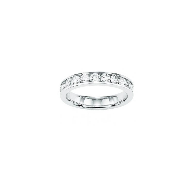 Shefi Diamonds 14 Karat White Gold 1.5 Carat Wedding Band