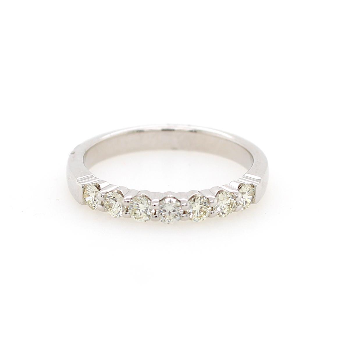 Shefi Diamonds 14 Karat White Gold .5 Carat Wedding Band