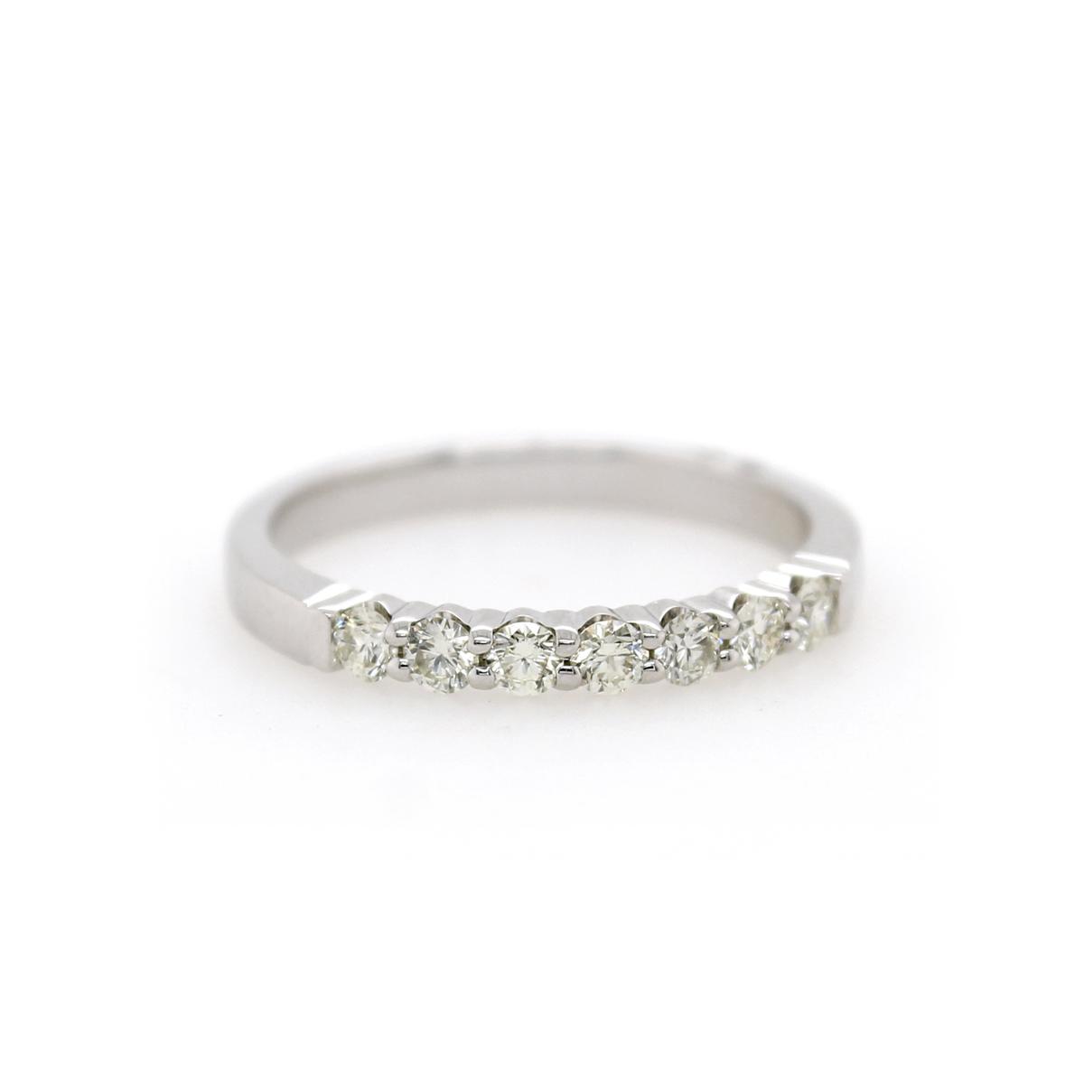 Shefi Diamonds 14 Karat White Gold .33 Carat Wedding Band