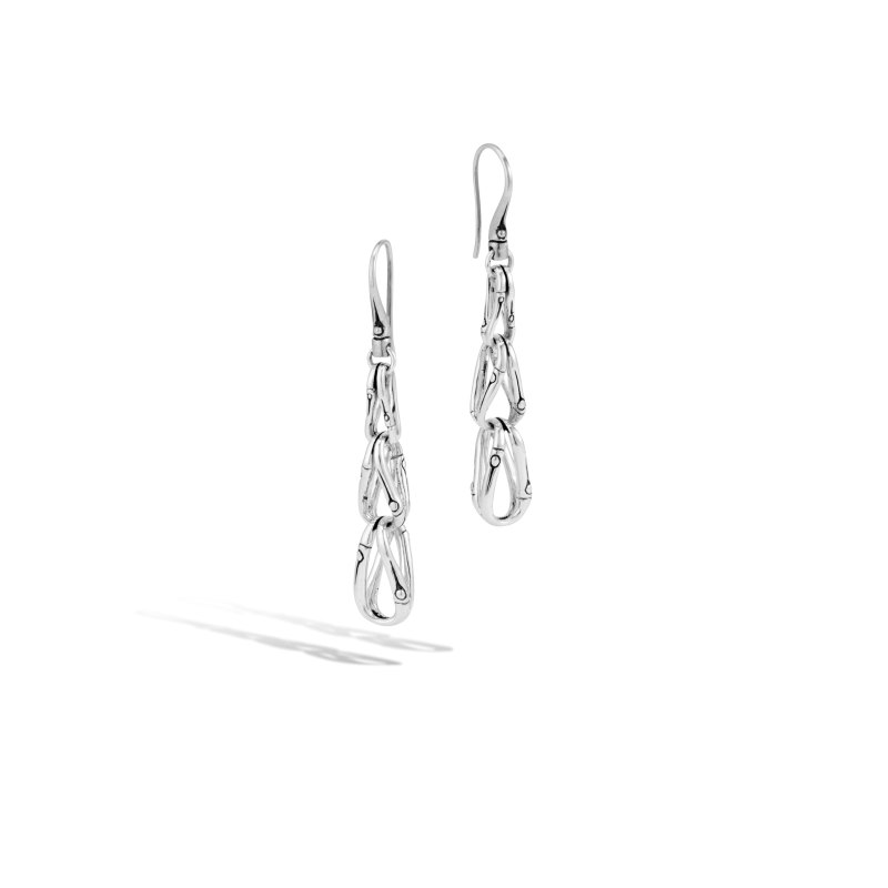 John Hardy Bamboo Silver Earrings