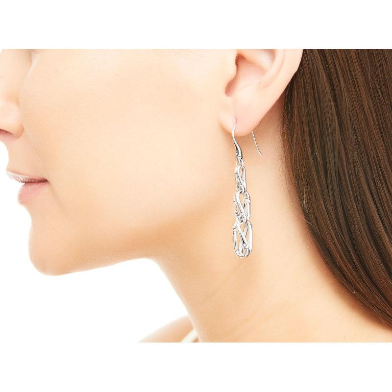 John Hardy Bamboo Silver Earrings
