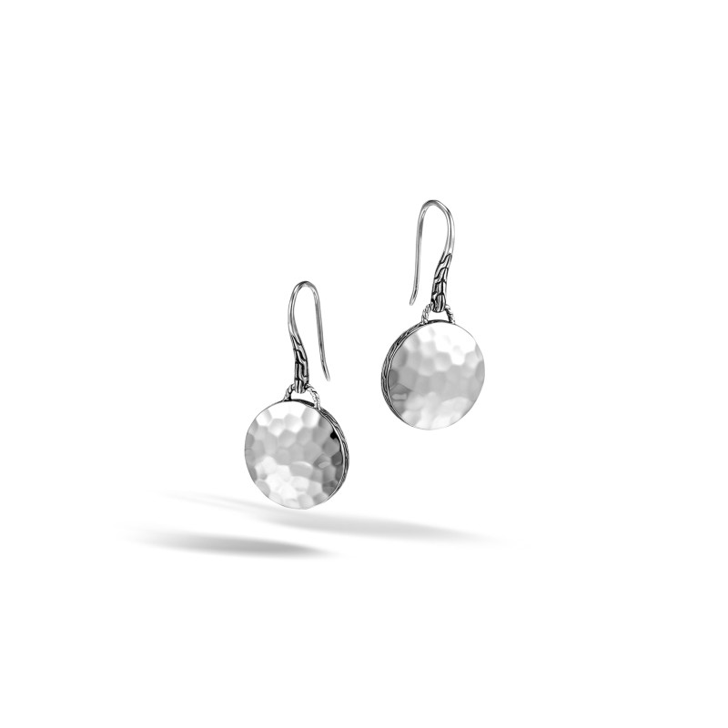John Hardy Dot Round Drop Earrings