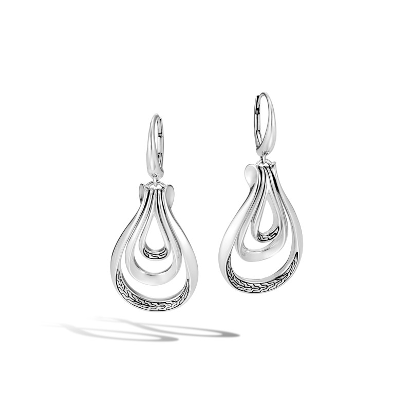 John Hardy Asli Classic Chain Link Silver Earrings