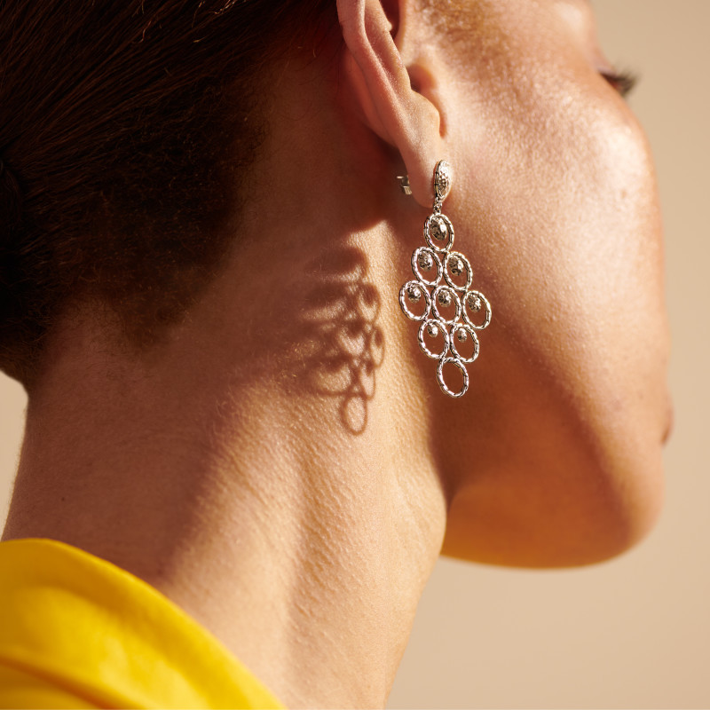 John Hardy Dot Hammered Chandelier Earring