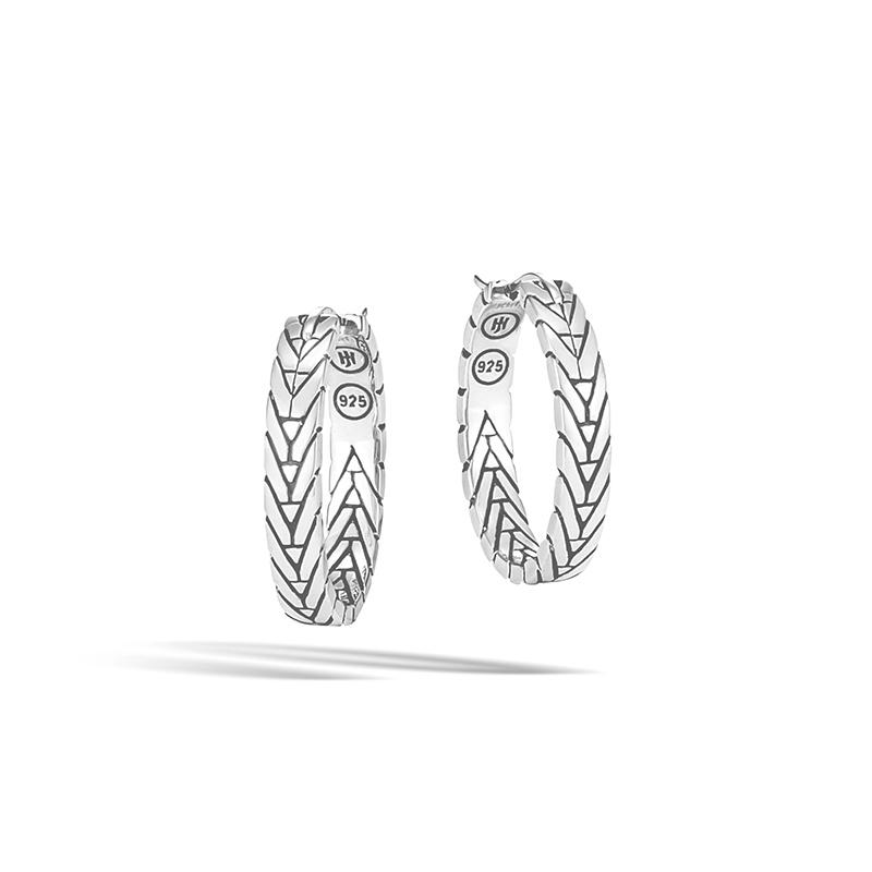 John Hardy Modern Chain Silver Small Hoop Earrings