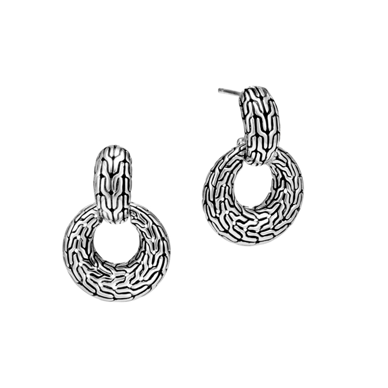 John Hardy Classic Chain Door Knocker Earring
